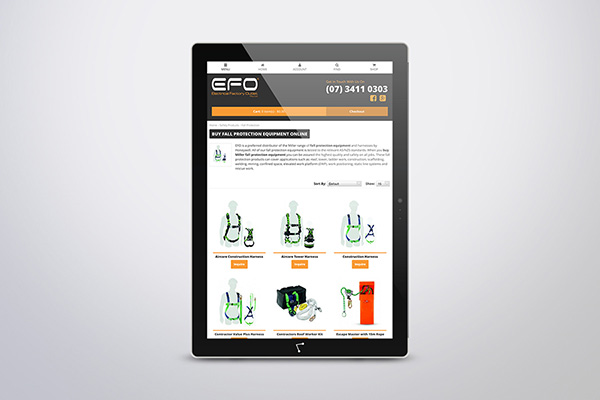 Online shop design + mobile web design